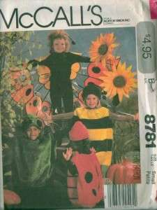 OOP McCalls Childs Halloween Costume Sewing Pattern Uncut Boys Girls