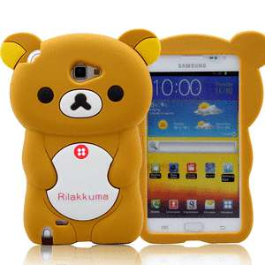 Brown Cute Bear 3D Silicone Soft Case Cover For SAMSUNG GALAXY Note