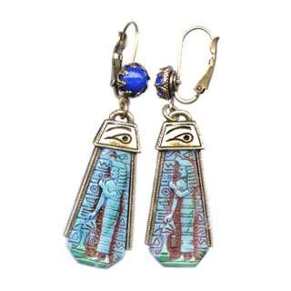 Sweet Romance Egyptian Goddess Vintage Earrings