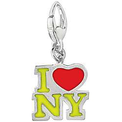 Sterling Silver I Love NY Charm