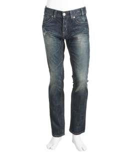 MEK Denim Washington Slim Dark Blue Jeans
