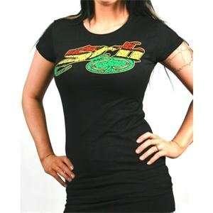 SRH Womens Rum T Shirt   Large/Black Automotive