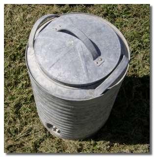 Vintage horton galvanized metal cooler