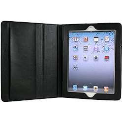 Slim Fit Black Faux Leather Apple iPad 2 Case