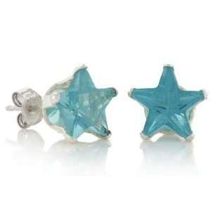 March Birthstone Aqua Marine Blue Star Cut Cubic Zirconia