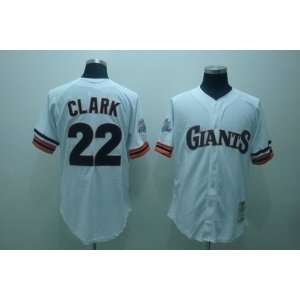 San Francisco Giants #22 Clark White M&n 2011 MLB Authentic Cream Gold