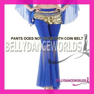 BELLY DANCE COSTUME TRIBAL PANTS STRETCHY FLARED LEGS