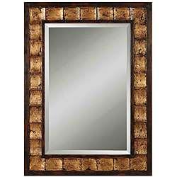 Justus Distressed Mahogany Wood Framed Mirror