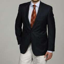 Ben Sherman Mens Blue Plaid Windowpane Slim fit Sportcoat
