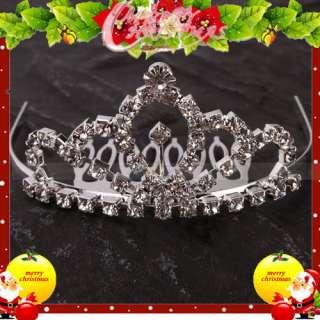 Charming Wedding Bridal Jewelry Rhinestone Tiaras Crown Hair Comb Pin