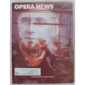 Opera News Magazine. August 1980. Single Issue Magazine