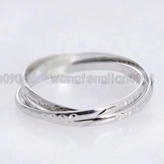 in 1  18K White Gold Plated Band Ring 93047