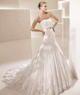 New Style Satin Lace Wedding Dress Bridal Gown Discount New custom