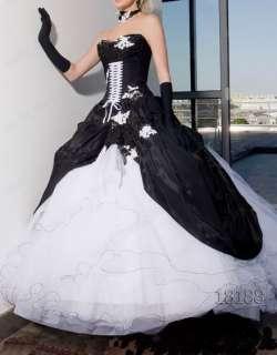 Beutiful Black &White Tulle Bridal Gown/Wedding Dress