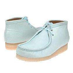 Clarks Wallabee Boot   Mens Light Blue Mesh Boots  Overstock