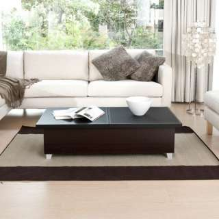 Hokku Designs Monroe Coffee Table in Black Furniture
