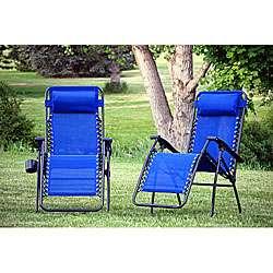 WFS Blue Zero Gravity Chair (Set of 2)