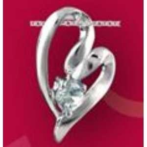 Clear CZ Open Heart Freeform Necklace: Dakota west Designs: Jewelry