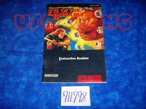 SNES Super Nintendo Manual EYE OF THE BEHOLDER D & D   VERY GOOD