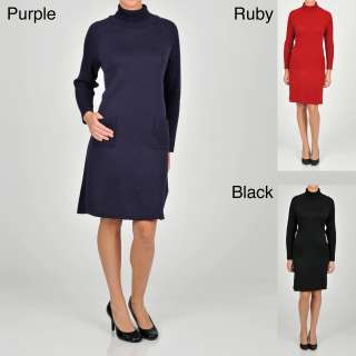 Lennie for Nina Leonard Womens Turtleneck Sweater Dress