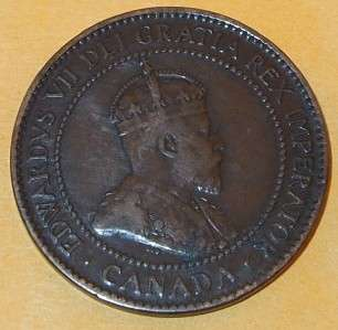 1906 Canada Canadian PENNY 1 one CENT LARGE cent COIN