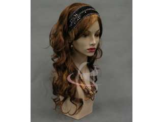 Fiberglass Mannequin Head Vintage Wig Hat Earrings Necklace Display MD