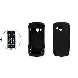 Gino Black Plastic Case Hard Cover for Nokia 5800 XpressMusic Cell