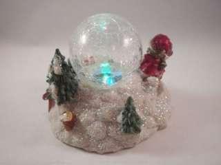 Christmas Light Up Lighted Snow Globe Snowman Winter Scene