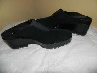 NEW DONALD PLINER RASHA BLACK SUEDE CLOG SHOES 8.5 9.5