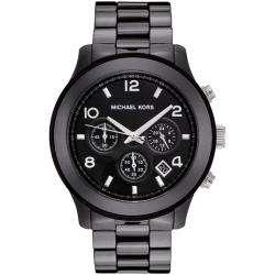 Michael Kors Mens Black Dial Black Ceramic Chronograph Watch