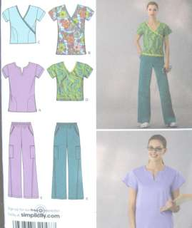Misses Scrub Top Pants Sewing Pattern 2871 New
