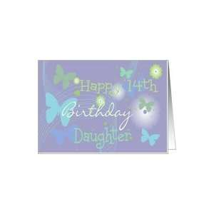 14th Birthday daughter, pastel butterflies Card Toys