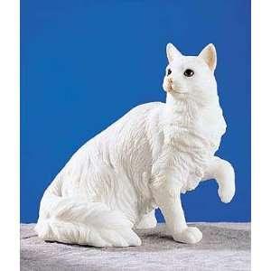 Turkish Angora White Cat Collectible Figure H 4