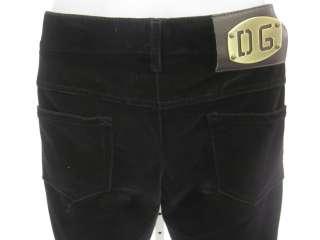 DOLCE & GABBANA Brown Velvet Bootcut Trousers Pants 40