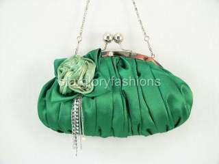 Emerald Green Wedding/Prom Clutch Jewel Crystal Tassel KD 04236
