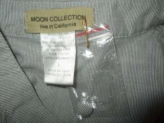 DESCRIPTION  NWOT Moon Collection Live in California Pinstripe Top L