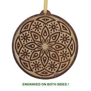 Laser Cut and Engraved Wood Christmas Tree Ornament
