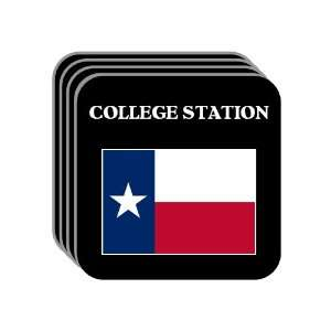 US State Flag   COLLEGE STATION, Texas (TX) Set of 4 Mini