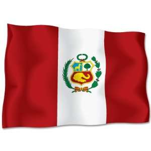 PERU Flag car bumper sticker decal 6 x 4