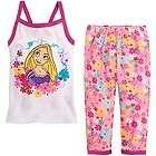 NWT Disney Store TANGLED Rapunzel sz 4 Cami Tank Pajamas Pj Pal Cotton
