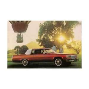 1980 CADILLAC COUPE DEVILLE Post Card Sales Piece