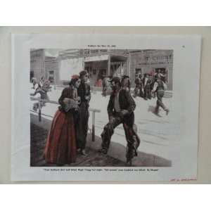 by Dan Sweeney. 1938 Print Art (painting old western street/2 women