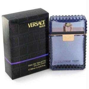 Man by Versace Eau Fraiche Eau De Toilette Spray (Blue) 3.4 oz for Men