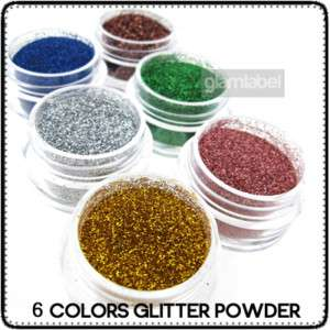 TOP 6 Color NAIL ART GLITTER POWDER DUST EYESHADOW ND03