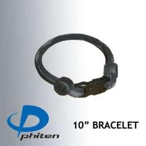 Phiten Custom X30 Titanium Bracelet 10 Black/Gray: Sports