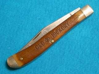 VINTAGE ONTARIO OK 603 USA OLD HICKORY SLIMLINE TRAPPER KNIFE KNIVES