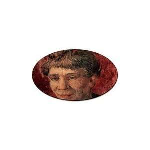 Portrait of Madame Tanguy By Vincent Van Gogh Oval Sticker