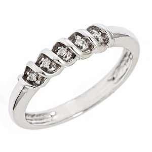 1/20 Carat T.W. Diamond Ladies Wedding Ring 14K White