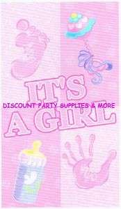 Its a Girl Baby Shower Pink Photo Backdrop Wall Banner