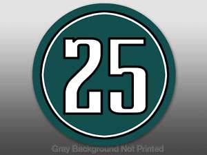 Round 25 LeSean McCoy Sticker decal Philadelphia Eagles